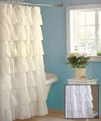Country Shower Curtain Shabby Country Ruffled White Shower Curtain Home
