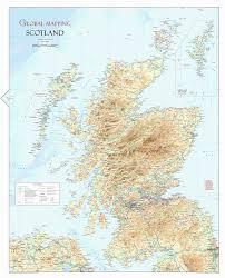 Wall Maps Scotland Physical Wall Map Xyz Maps