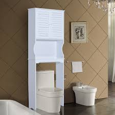 homcom over toilet cabinet bath furniture cupboard storage free