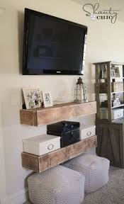 How To Decorate Media Room - diy media shelves media shelf free woodworking plans and