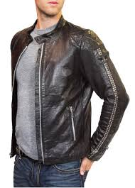mens motorcycle leathers motorcycle black diamond crystals leather jackets men