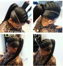 human hair ponytail with goddess braid 97 best flawless hair buns updo s images on pinterest black