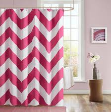 Pink And Grey Shower Curtain by Pink Chevron Fabric Shower Curtain Designs Affordable