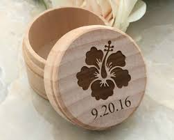 ring box engraved hawaii wedding gift ring bearer personalized