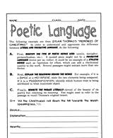 poetry lessons u0026 activities gallery of worksheets grades 6 8