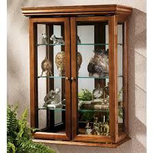 glass door wall curio cabinet unusualg curio cabinet photo design cabinets