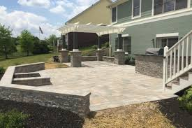Retaining Wall Patio Design Custom Retaining Seat Wall Design Install In Fishers In