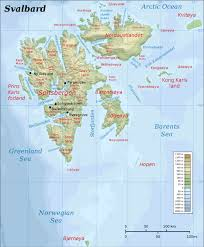 Physical Map Of Italy by Maps Of Svalbard Detailed Map Of Svalbard In English Physical
