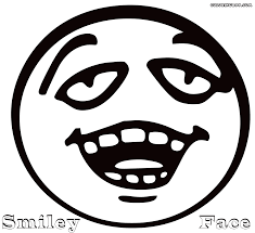 happy face coloring page printable happy funny face images smiley
