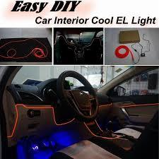 nissan versa note interior car atmosphere light flexible neon light el wire interior light