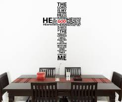 wall decals for dining room vinyl wall decal sticker psalm 23 the lord is my shepherd cross 5132