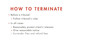 Client Termination Letter Legal Ethics Tutorial Terminating The Attorney Client