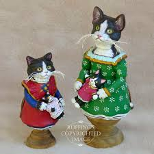 emmy original one of a tuxedo folk cat doll by max bailey