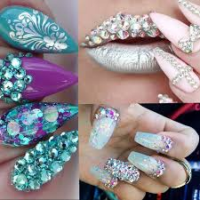 aliexpress com buy clear crystal nails decoration non fix
