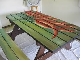 Plans For Round Wooden Picnic Table by Best 20 Picnic Table Paint Ideas On Pinterest U2014no Signup Required