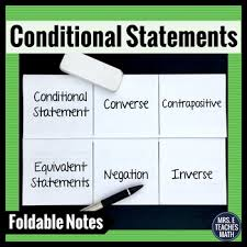 conditional statements interactive foldable by mrs e teaches math
