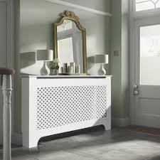 B Q Bathroom Furniture by Richmond Large White Painted Radiator Cover Departments Diy At B U0026q