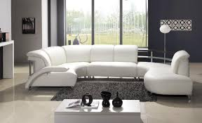 Curved Arm Sofa by Furniture White Leather Sectional Sofa Using Curved Arm Rest On