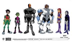 cartoon concept design teen titans model sheets