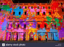 sydney 2011 light show sydney customs house projection light