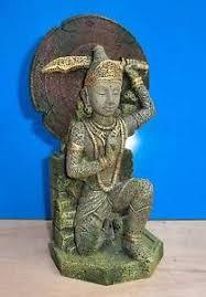 buddha warrior thai statue aquarium ornament fish tank bowl