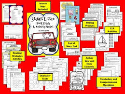 stuart little book study and activity packet by a series of 3rd