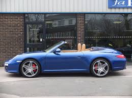 blue porsche convertible used porsche 911 carrera 3 8 s cabriolet 997 gen ii for sale in