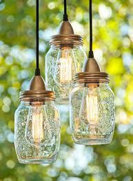 Pottery Barn Mason Jar Chandelier Luminária Pendente De Vidro De Conserva Luminárias Artesanais