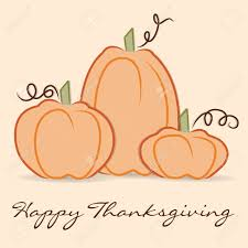 thanksgiving vector art hand drawn pumpkin thanksgiving card in vector format royalty free