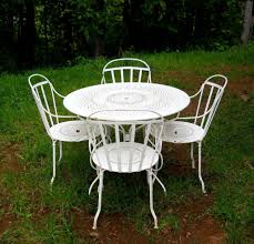 Patio Bistro Table Set by Pre1960s Iron Metal French Fermob Cafe Bistro Table Patio Chairs