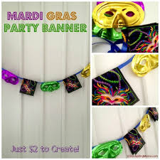 mardi gras decorations to make mardi gras party banner