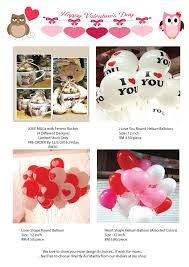 valentines day balloons wholesale something special to you malaysia wedding one stop shop