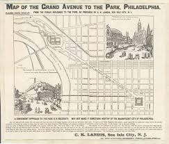 grand map map of the grand avenue to the park philadelphia 1884 digital