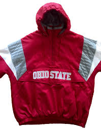 men u0027s majestic ohio state buckeyes half zip hooded pullover jacket