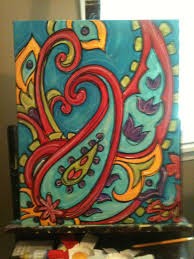 paisley paint your own pottery paisley painting jenny hall art