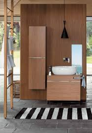 wooden bathroom cabinets and oval sanitary ceramics egg by pozzi