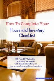 how to complete your home inventory checklist daily successful