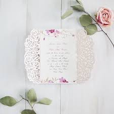 floral wedding invitations pink floral wedding invitations with glittery backers
