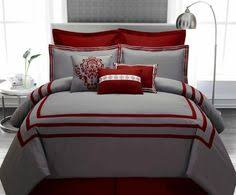 Red And Grey Bedroom by Potterybarn Oh My If This Were My Bedroom I Might Never Leave