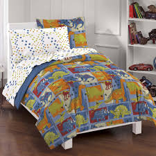 Bedding Sets Dream Factory Dino Blocks Mini Bed In A Bag Bedding Set Blue