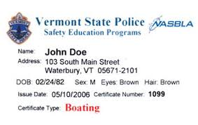 vermont boater education cards certificates boat ed