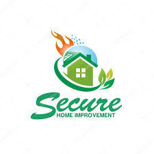 secure house fire logo design u2014 stock vector krustovin 123166770