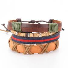 leather hand bracelet images Multilayer leather hand made bracelet fashion charm jpg