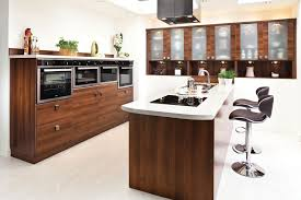 kitchen island interior curving brown wooden kitchen island with