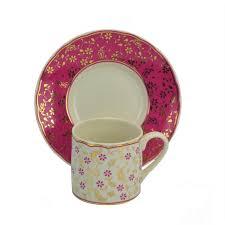 Porcelain Coffee Mugs Turkish Coffee Cup By Kutahya Porcelain Fuchsia