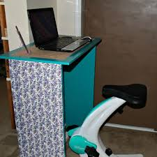 Diy Bike Desk Diy Exercise Desk Enchanted Homeschooling Enchanted