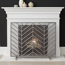 chevron fireplace screen in fireplace accessories reviews crate