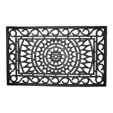 Recycled Rubber Tiles Home Depot by Entryways Sunburst 18 In X 30 In Recycled Rubber Door Mat 135r