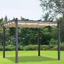 cheap gazebo for sale 3m x 3m beige pergola summer garden gazebo buy at qd stores