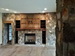natural stone gas fireplace stone veneer interior design